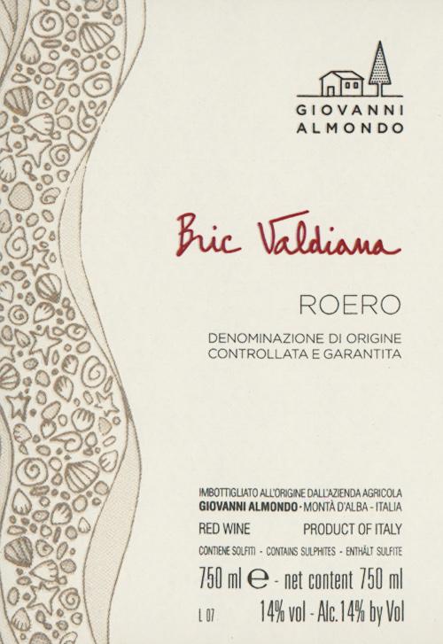 Roero D.O.C.G. Bric Valdiana Giovanni Almondo 2016