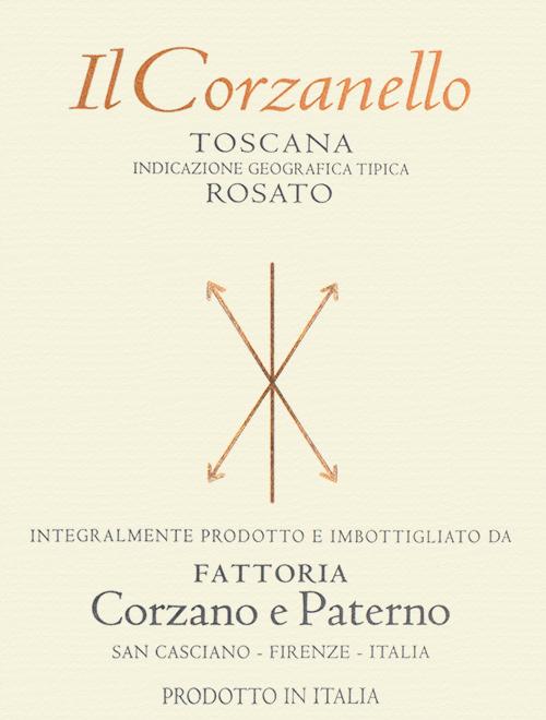 Indicazione Geografica Tipica Toscana Il Corzanello Rosato Corzano e Paterno 2018