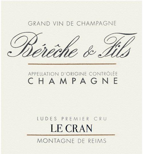 Champagne Le Cran Vintage Bérêche et Fils 2013