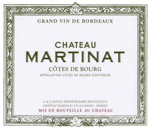 Côtes de Bourg  Chateau Martinat 2018