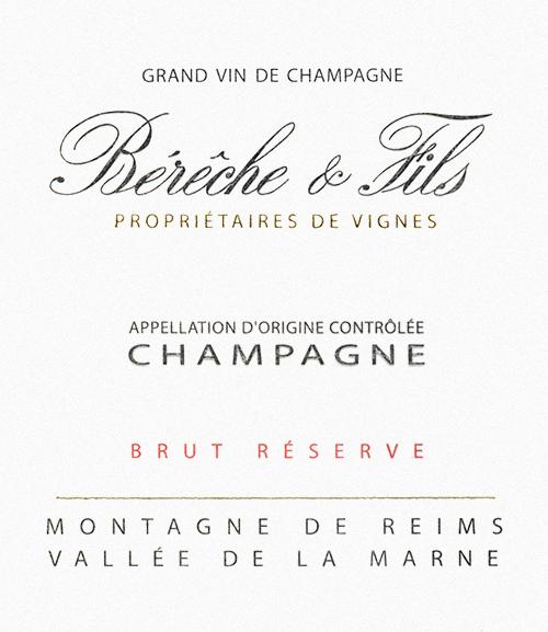 Champagne Brut Reserve Bérêche et Fils