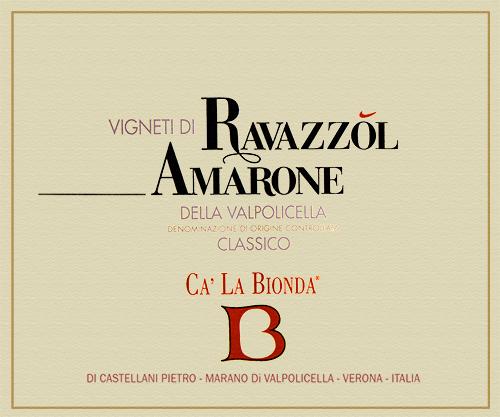 Amarone della Valpolicella Classico Ravazzol Agricola Ca' La Bionda 2013