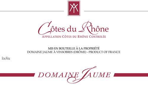 Côtes du Rhône Rosé Domaine Jaume 2019