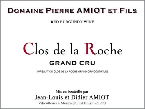 Clos de la Roche  Domaine Pierre Amiot et Fils 2017