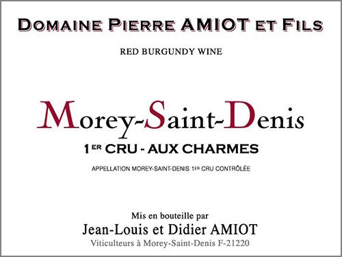 Morey-Saint-Denis Premier Cru Aux Charmes  Domaine Pierre Amiot et Fils 2017