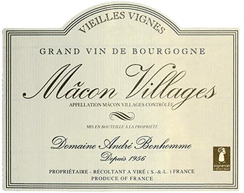 Mâcon-Villages Vieilles Vignes Domaine André Bonhomme 2019