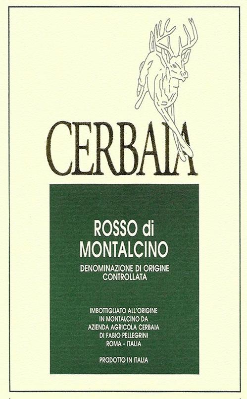 Rosso di Montalcino  Azienda Agricola Cerbaia 2017