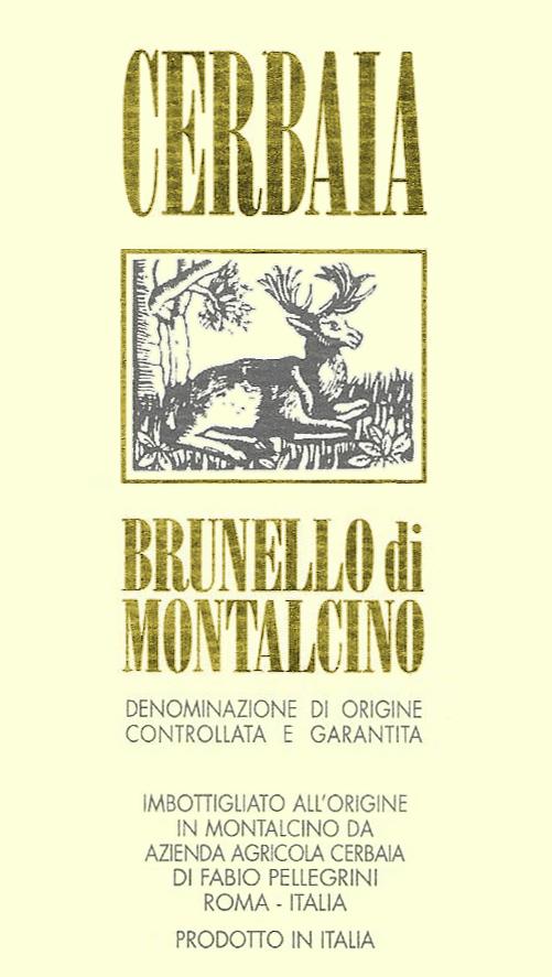 Brunello di Montalcino  Azienda Agricola Cerbaia 2014