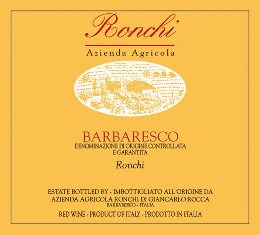 Barbaresco Ronchi Azienda Agricola Ronchi 2014