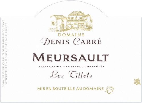 Meursault Les Tillets Domaine Denis Carré 2018
