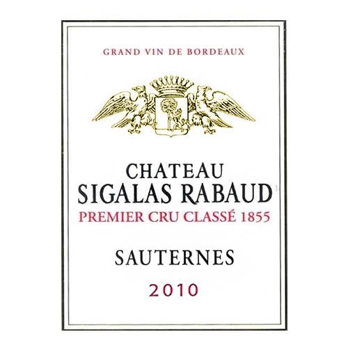 Sauternes (In half-bottle) Château Sigalas Rabaud 2010