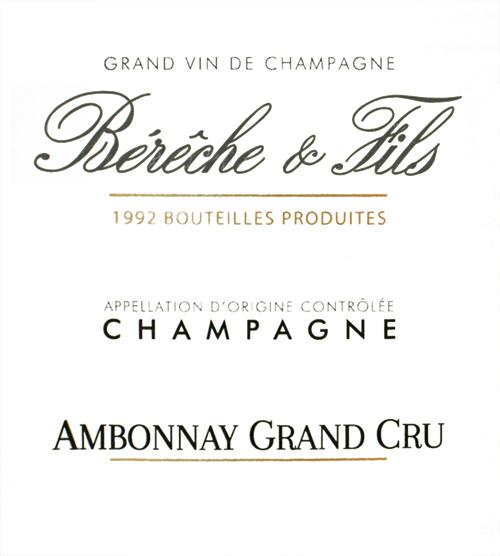 Champagne Ambonnay Grand Cru Bérêche et Fils 2014