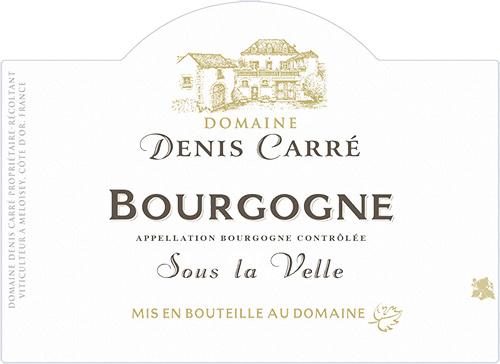 Bourgogne Blanc Sous la Velle Domaine Denis Carré 2018