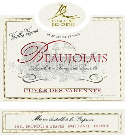 Beaujolais Cuvée Des Varennes Domaine des Cretes 2018