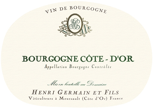 Bourgogne Blanc Domaine Henri Germain 2018