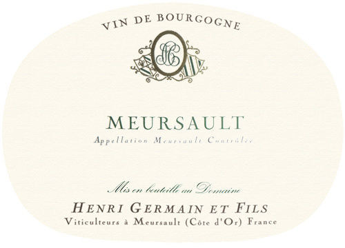 Meursault  Domaine Henri Germain 2018