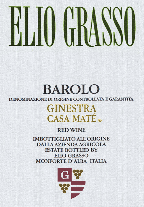 "Barolo Ginestra ""Vigna Casa Maté"" (In Magnum 1.5 Litre) Elio Grasso 2017"