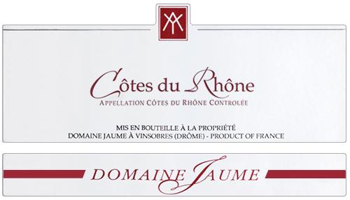 Côtes du Rhône  Domaine Jaume 2018