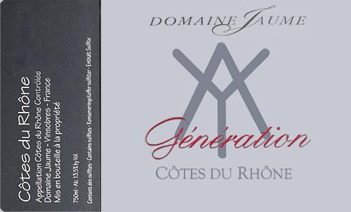 Côtes du Rhône Génération Domaine Jaume 2019
