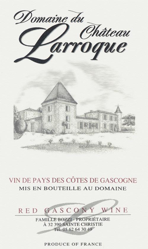 Côtes de Gascogne  Domaine du Chateau Larroque 2017