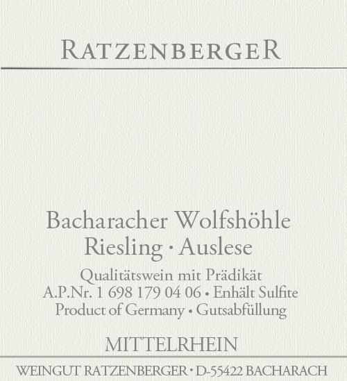 Bacharacher Wolfshöhle Auslese Weingut Ratzenberger 2004