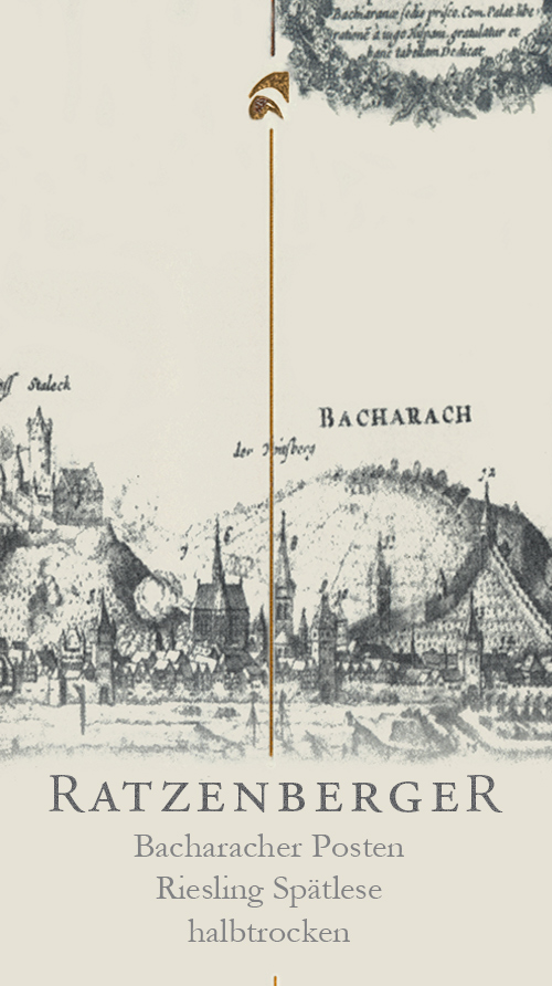 Bacharacher Posten Spätlese Halbtrocken Weingut Ratzenberger 2010